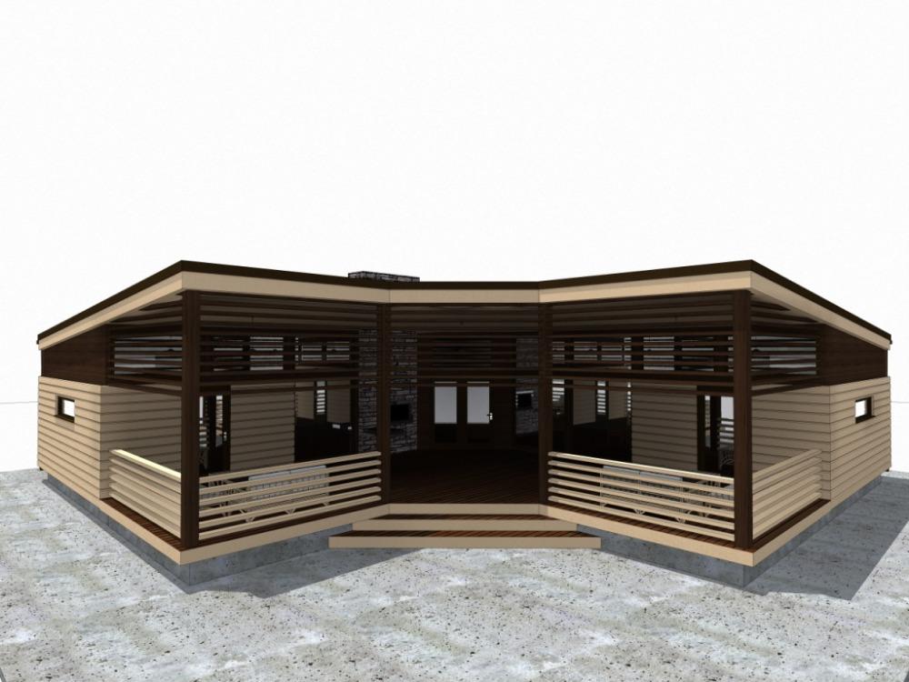 Одноэтажный минимализм проект